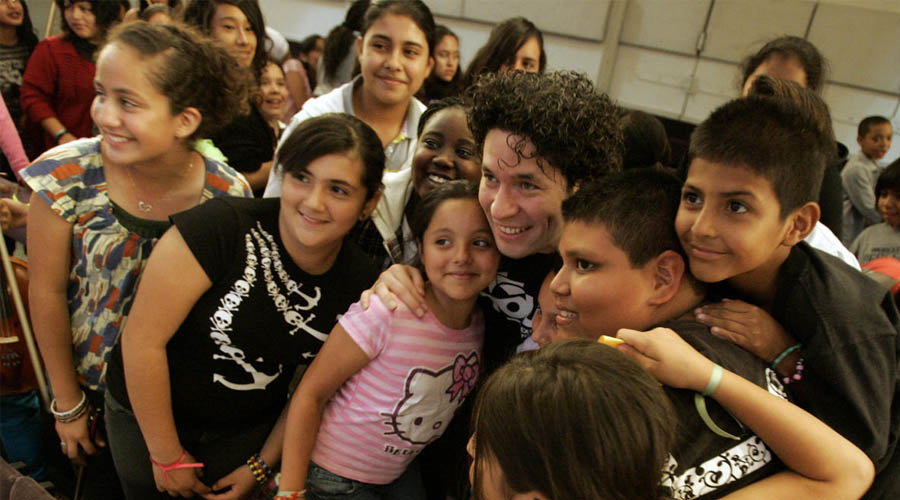 Primera gira de las trompetas de la YOLA con Gustavo Dudamel