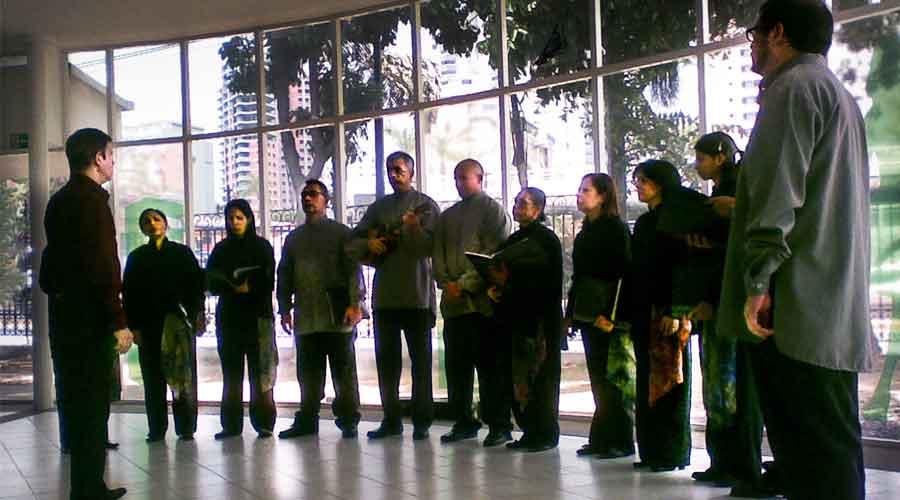 Grupo Vocal Quibure en el Salón Siglo XXI
