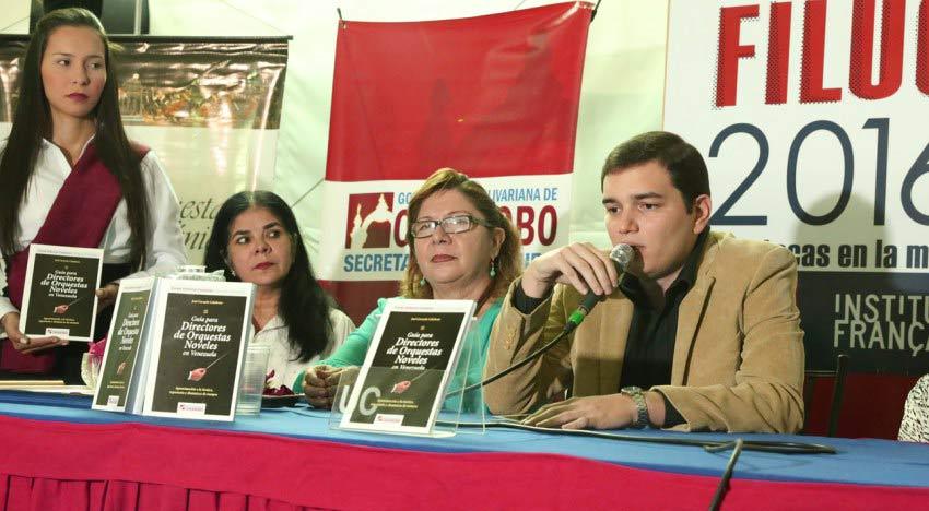 "José Carmelo Calabrese presentó en FILUC su libro ""Guía para Directores de Orquestas Noveles de Venezuela"""