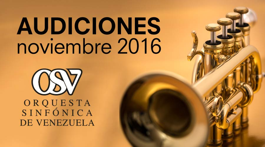 La Sinfónica de Venezuela convoca a Audiciones