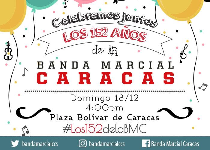 Banda Marcial Caracas ofrece concierto aniversario este domingo