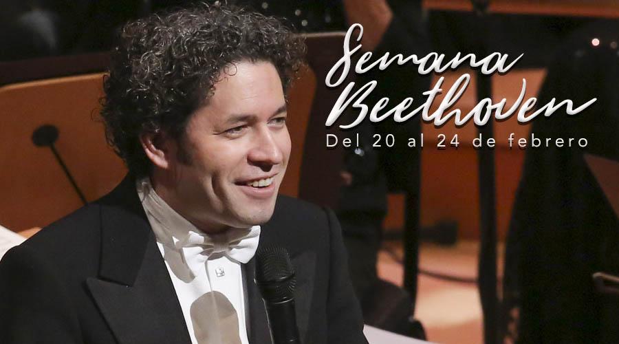 """Dudamel y """"la Bolívar"""" celebran 42 años de El Sistema con la música de Beethoven"""