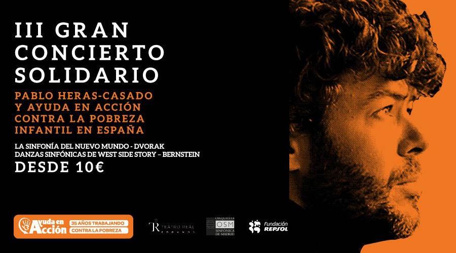 Ovación general y lleno absoluto anoche en el concierto Acordes con Solidaridad, dirigido por Pablo Heras-Casado en el Teatro Real