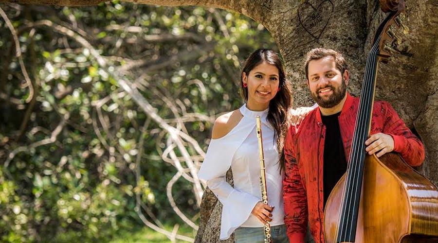 Flauta y Contrabajo criollos forman la agrupación Fundamental Dúo en Miami
