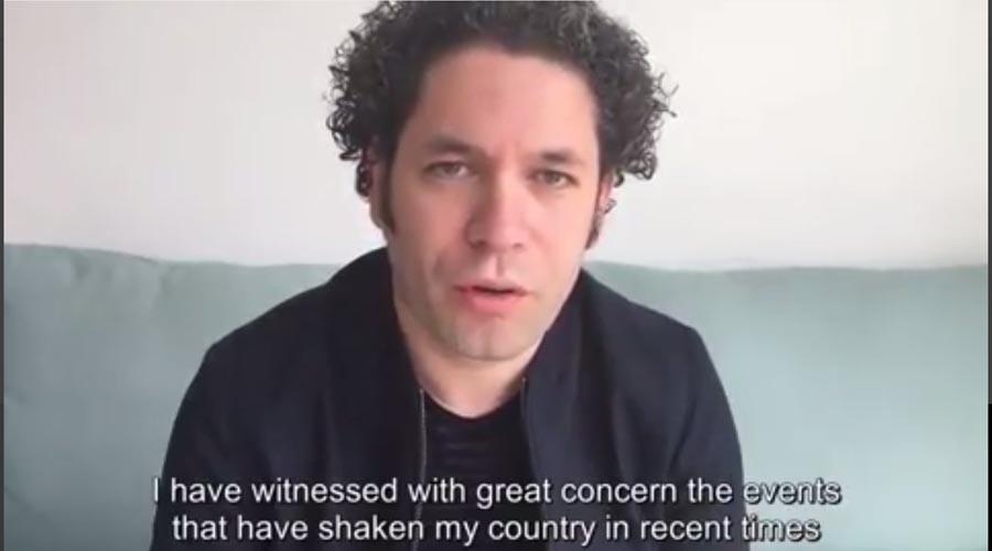 Gustavo Dudamel: se deben dejar a un lado las ideologías y definitivamente escuchar y pensar en la gente