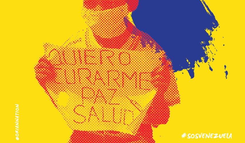 Oriana Montenegro manifiesta su protesta a través del arte plástico