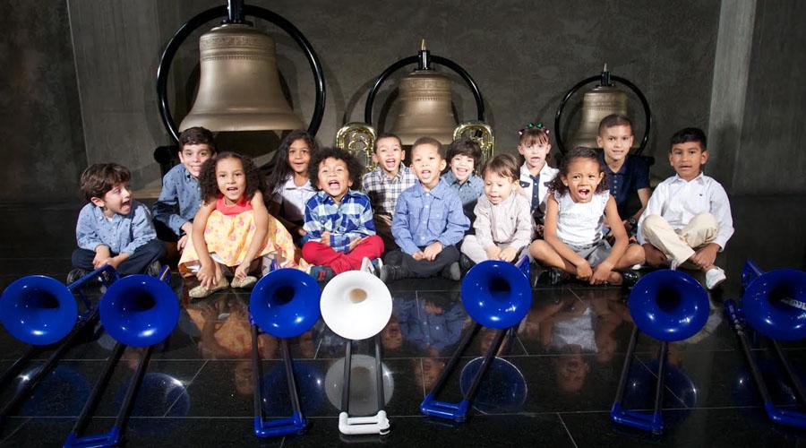 Los integrantes más pequeños de la Escuela Nacional de Trombón ofrecen recital