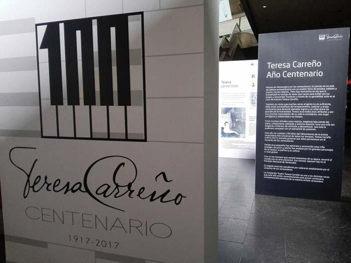 Exposición iconográfica sobre Teresa Carreño en los espacios abiertos