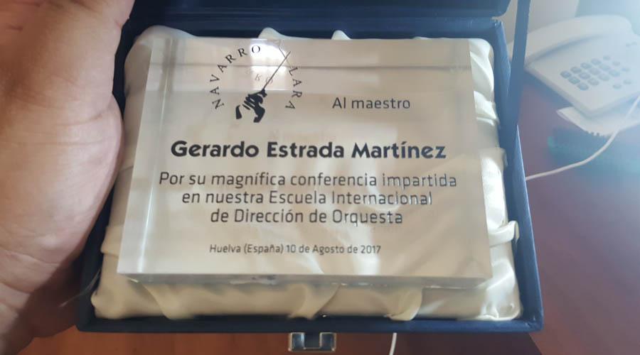 Gerardo Estrada imparte conferencia ante 130 directores de orquesta de 38 países.