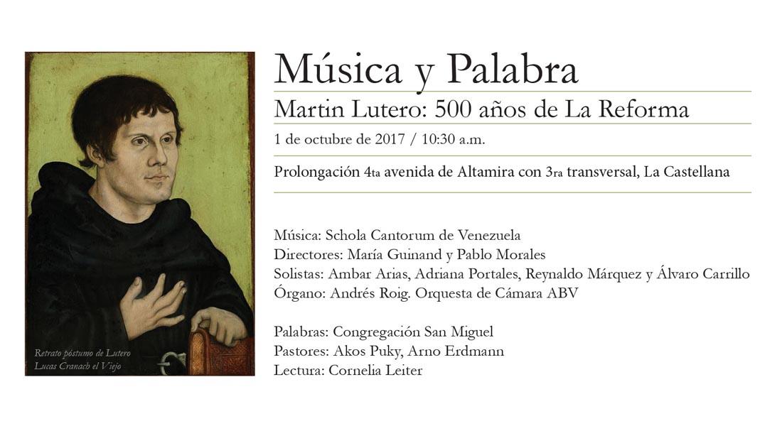Música y Palabra: La Schola se suma a la celebración de los 500 años de La Reforma