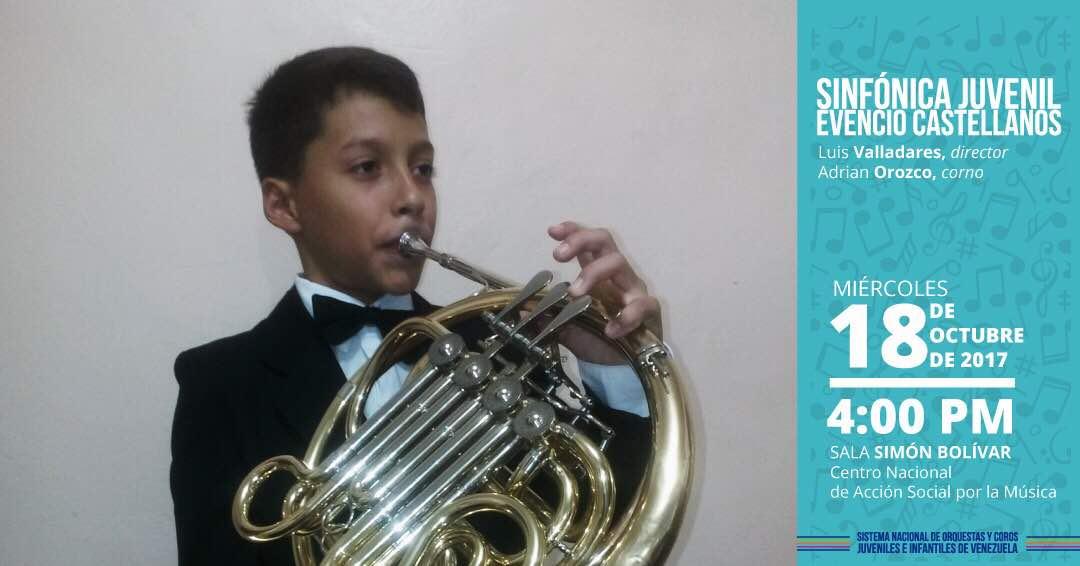 La Sinfónica Juvenil Evencio Castellanos ofrece primer concierto de temporada