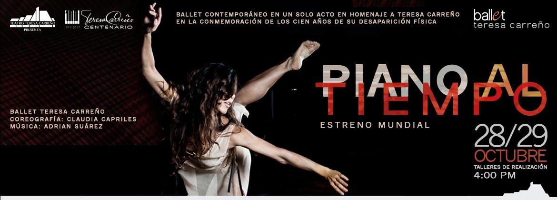 """Ballet """"Piano al tiempo"""" en honor a Teresa Carreño"""