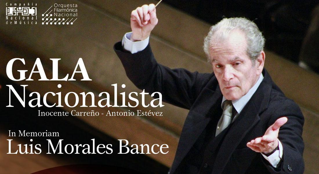 Gala Nacionalista realizará la Filarmónica en memoria de Luis Morales Bance