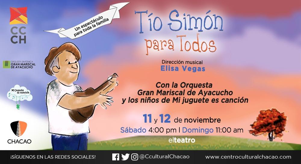 «Tío Simón para todos» sonará en voces infantiles en el Centro Cultural Chacao