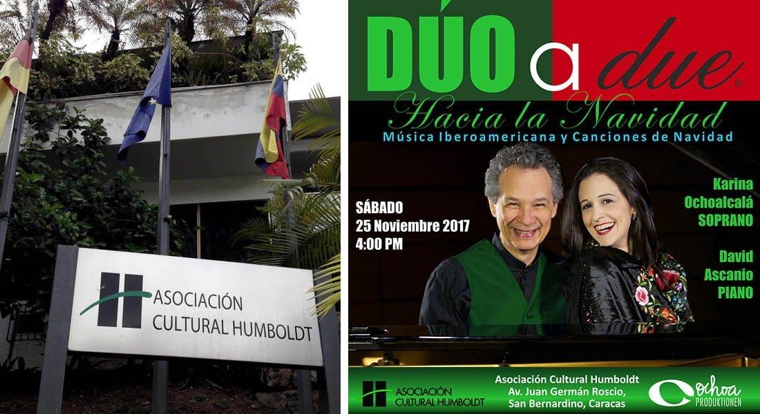 """Dúo a due """"Hacia la Navidad» en la Asociación Cultural Humboldt"""