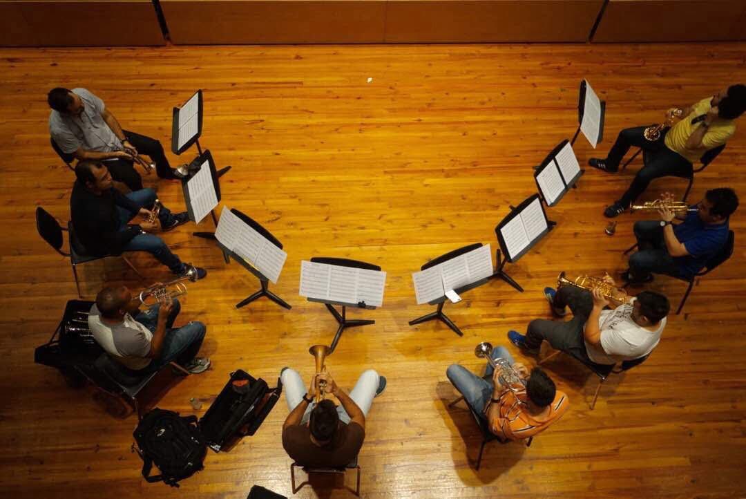 El Ensamble de Trompetas Simón Bolívar se prepara para llevar el modelo educativo de El Sistema por Europa