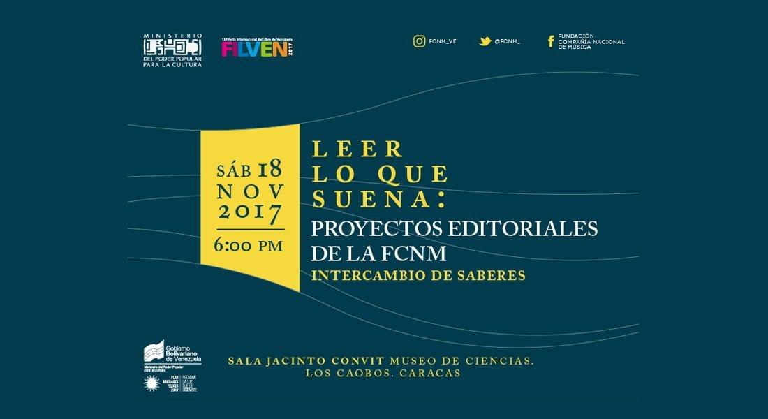 Leer lo que suena: FCNM presenta publicaciones musicales en la FILVEN