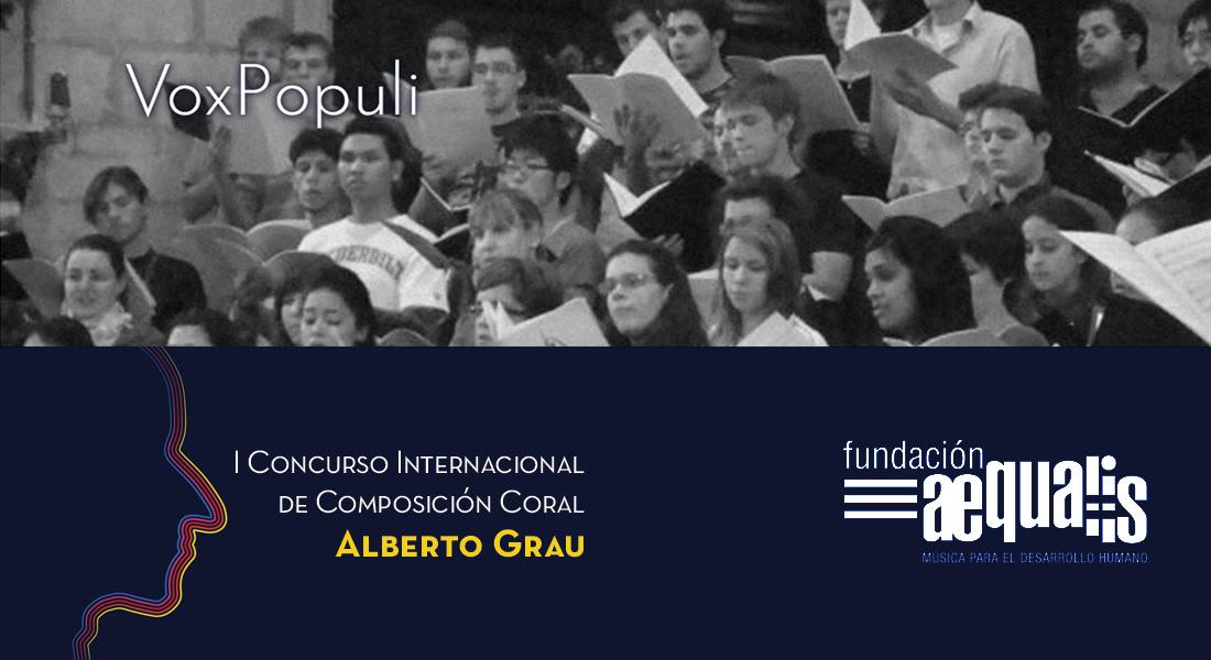 Abiertas votaciones online: VoxPopuli, premio del público del Concurso Internacional de Composición Coral Alberto Grau
