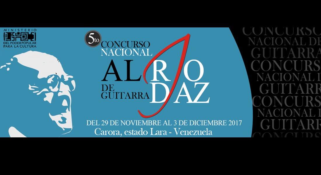 Concurso Nacional de Guitarra Alirio Díaz inicia su quinta edición
