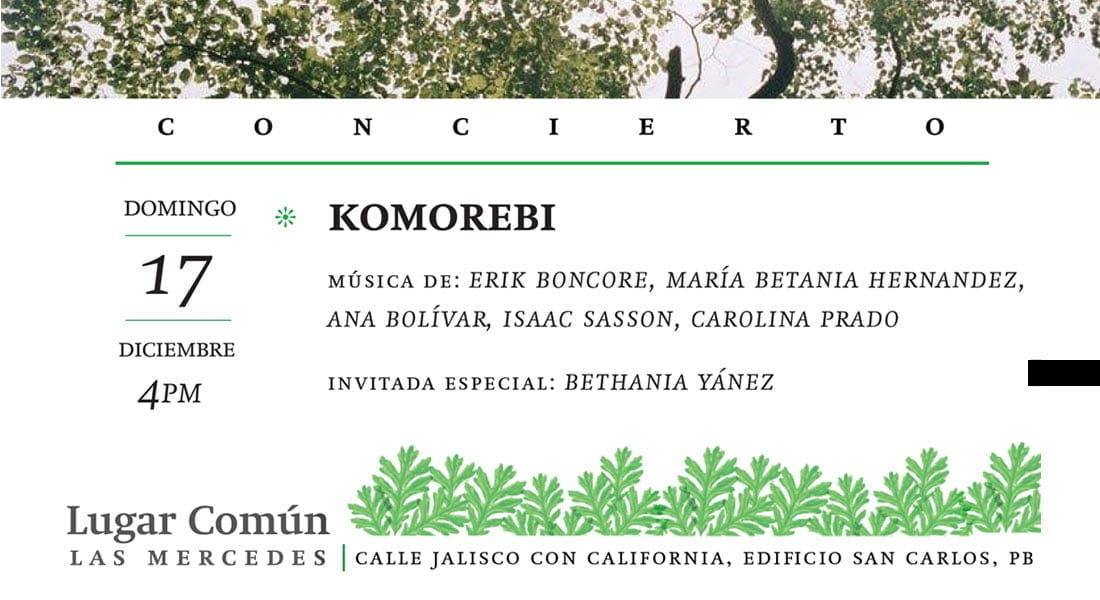 "Concierto de música venezolana ""Komorebi"""