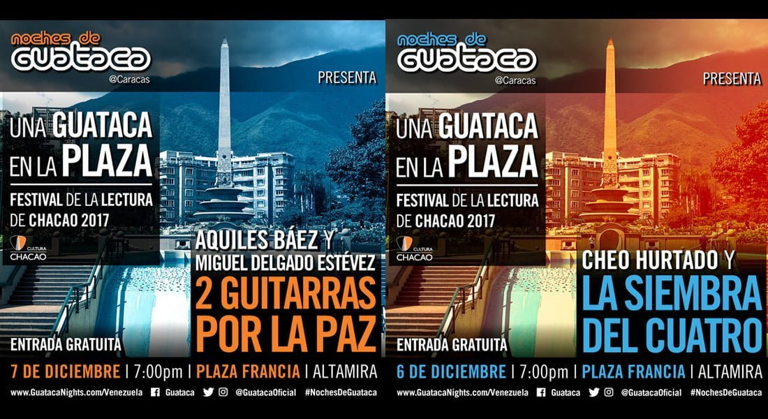 La Guataca se armará en el Festival de la Lectura Chacao 2017