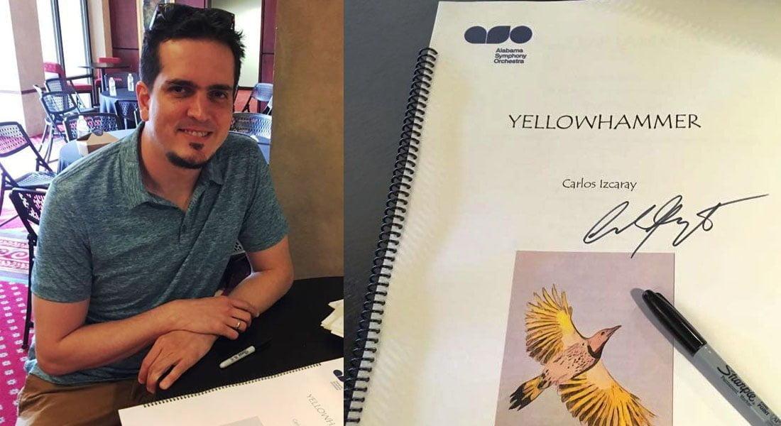 """Carlos Izcaray estrena su obra """"Yellowhammer"""""""
