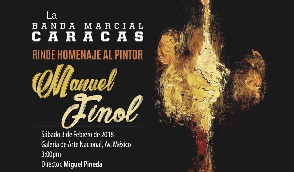 Banda Marcial Caracas inicia temporada musical 2018 con homenaje al pintor Manuel Finol