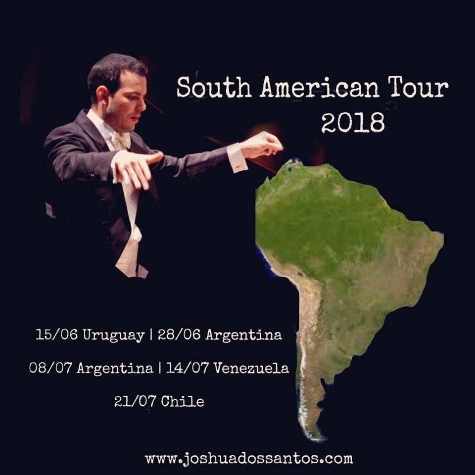 La batuta de Joshua Dos Santos recorrerá Sudamérica