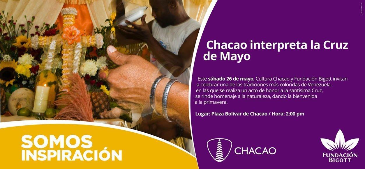 Se celebran Velorios de la Cruz de Mayo en la Plaza Bolívar de Chacao