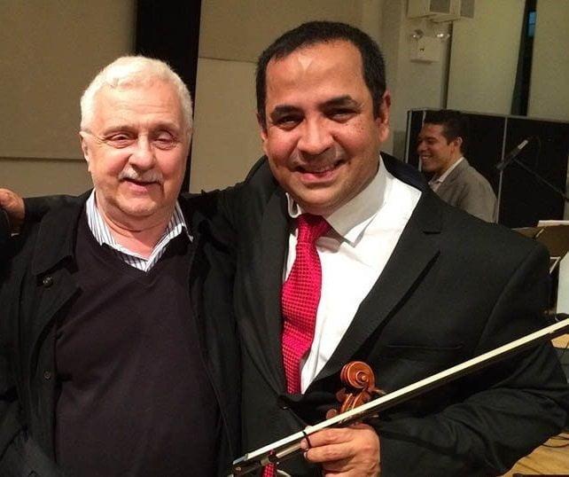 Maestro del tango Daniel Binelli dedica concierto de violín a Eddy Marcano