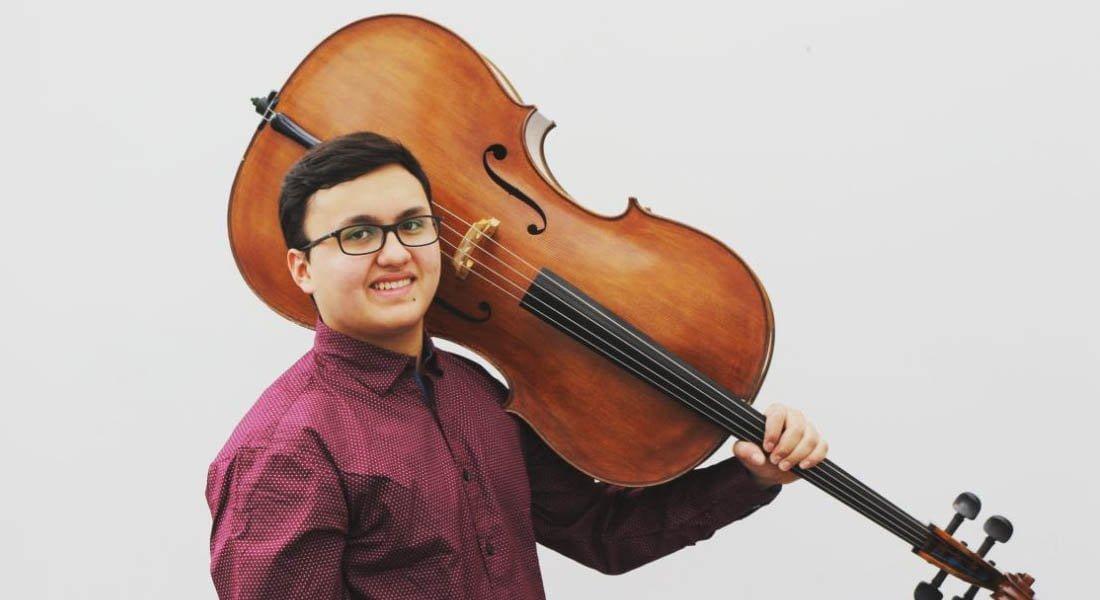 El joven violonchelista Eloy Daniel Medina Barreto tocará como solista con la Orquesta del Staatskapelle de Weimar en Alemania