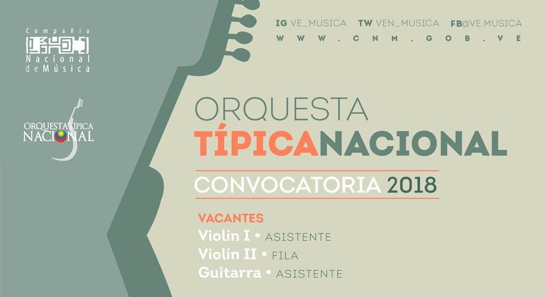 La Orquesta Típica Nacional inició proceso de postulación para audiciones