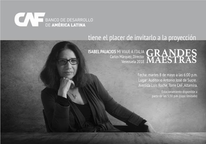 CAF tiene el agrado de invitarlos a la proyección del documental Grandes Maestras