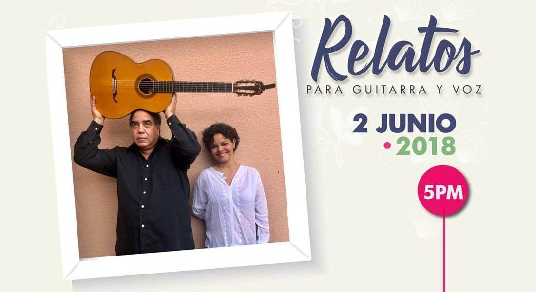En Relatos para guitarra y voz, Aquiles Báez y Ana Isabel Domínguez se pasearán por sonidos latinoamericanos