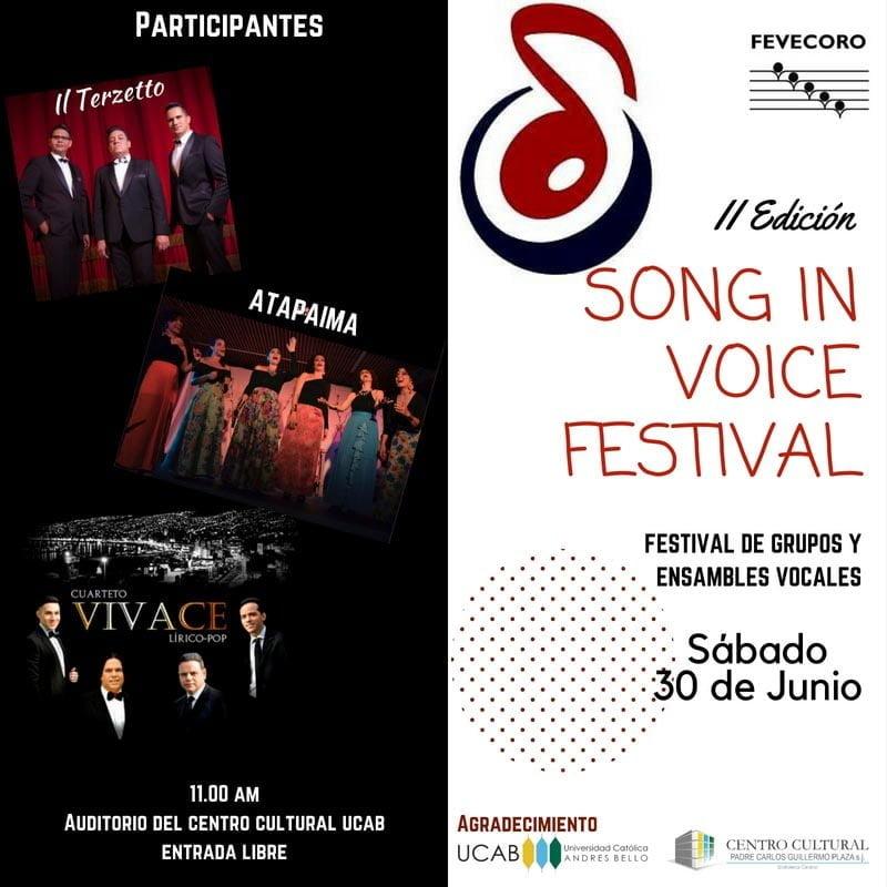 Los mejores ensambles vocales de Venezuela se reúnen en el II Song in Voice Festival 2018