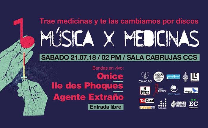 Se podrá canjear medicinas por música en la Sala Cabrujas de Los Palos Grandes