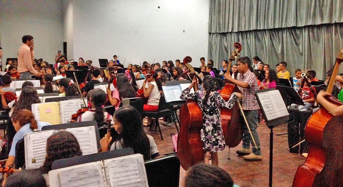 Concierto de clausura de seminario realiza Orquesta Sinfónica Infantil del Núcleo Coro