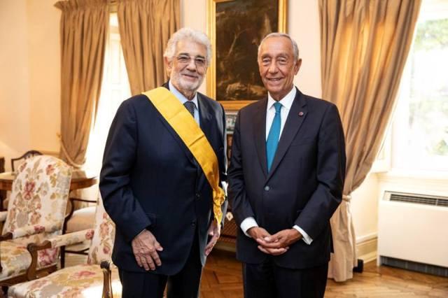 El gran tenor español Plácido Domingo fue distinguido por Portugal con la Gran Cruz de la Orden de la Instrucción Pública