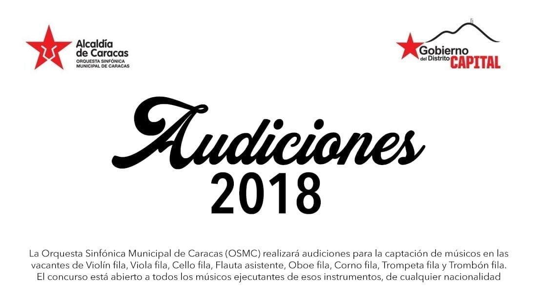 La Sinfónica Municipal de Caracas busca nuevos integrantes