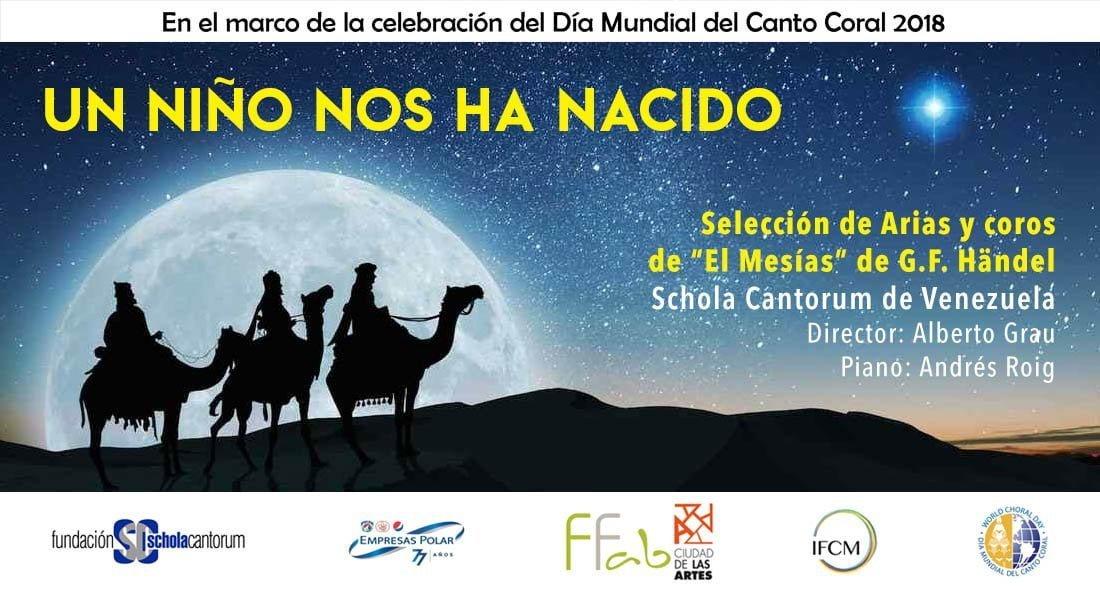 """La Schola Cantorum de Venezuela celebra la Navidad con el programa """"Nos ha nacido un niño"""""""