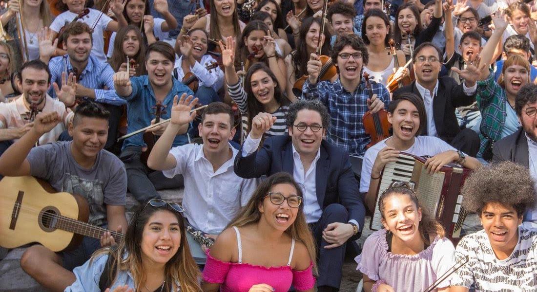 La batuta de Gustavo Dudamel le dio ritmo al 2018