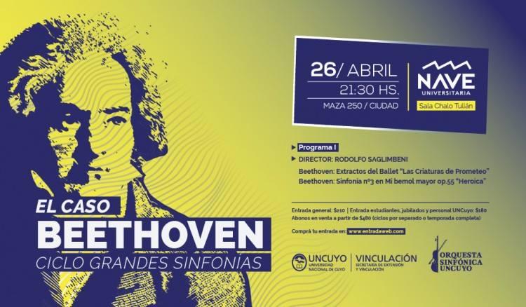 """El maestro Rodolfo Saglimbeni dirigirá """"El caso Beethoven"""" junto a la Sinfónica de Uncuyo"""