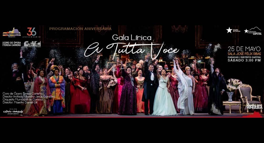 """Vuelve """"A tutta voce"""" con el Coro de Ópera Teresa Carreño en el TTC"""