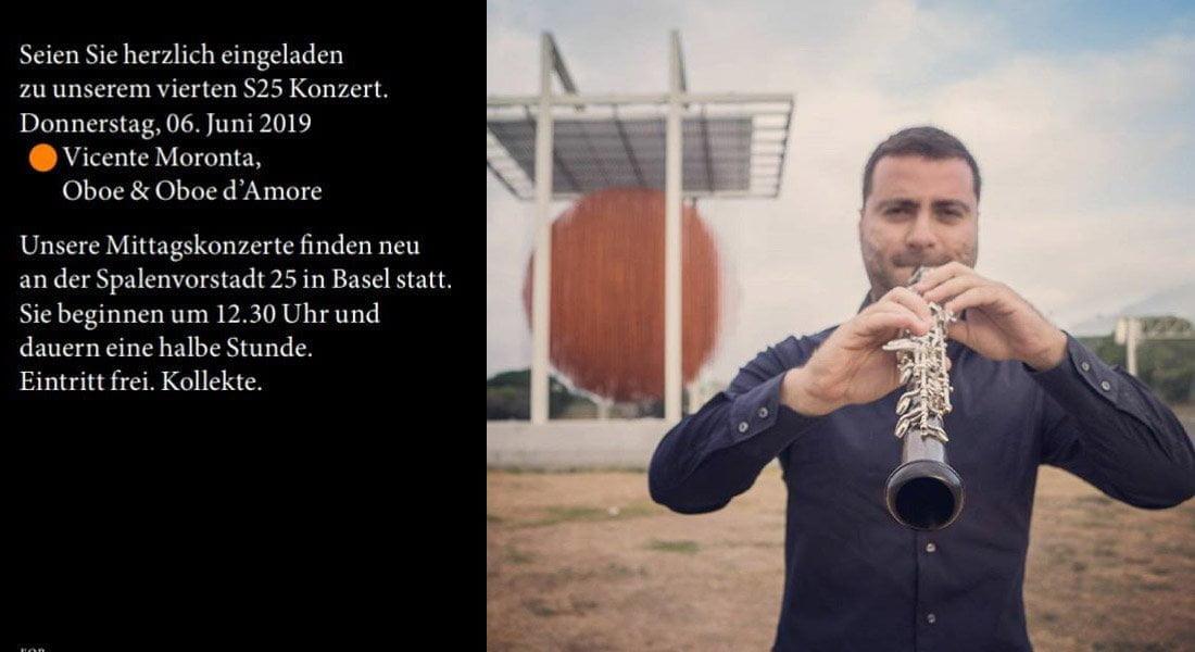 Vicente Moronta realiza recital de oboe de compositores venezolanos en Suiza
