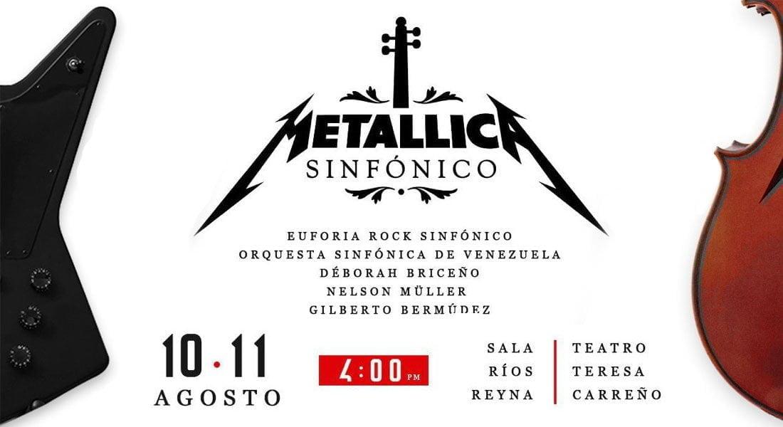 """""""Metallica Sinfónico"""" llega a la Sala Ríos Reyna con un espectáculo sin precedentes"""