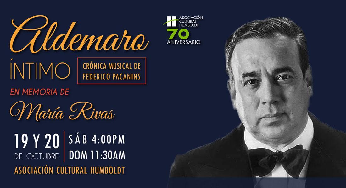 Aldemaro Romero llega a la Asociación Cultural Humboldt en Memoria de María Rivas