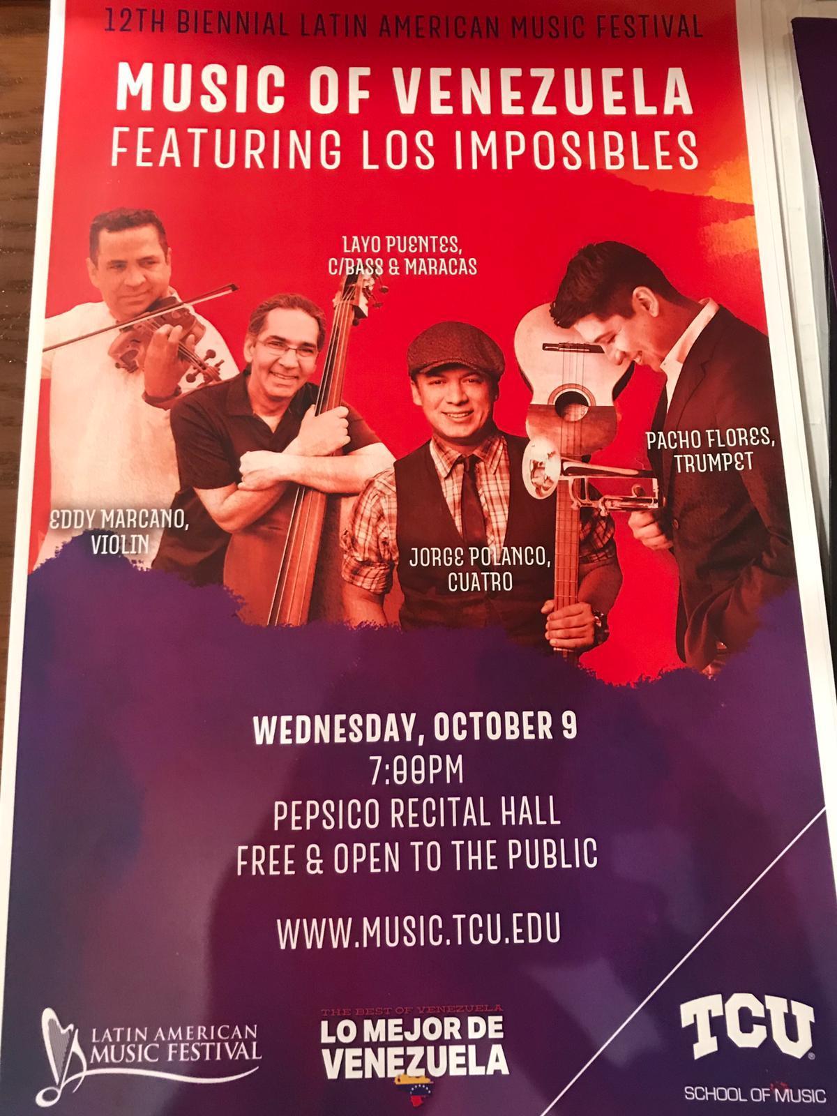 Los Imposibles suenan en Texas con ritmo y sabor venezolano