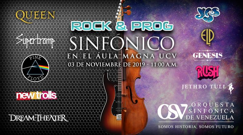 Rock y Prog Sinfónico en el Aula Magna de la UCV