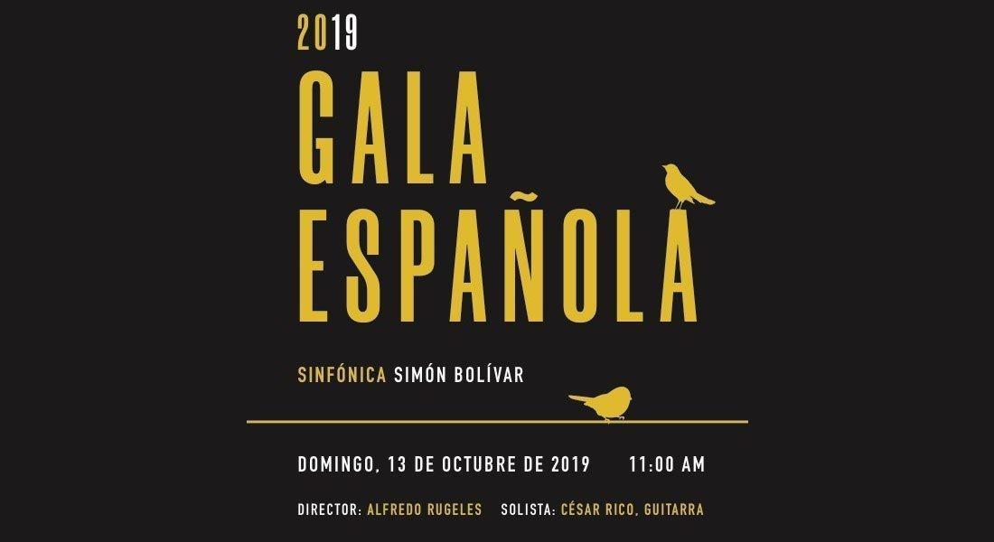"""La esperada """"Gala Española 2019"""" se presenta en la Sala Simón Bolívar"""