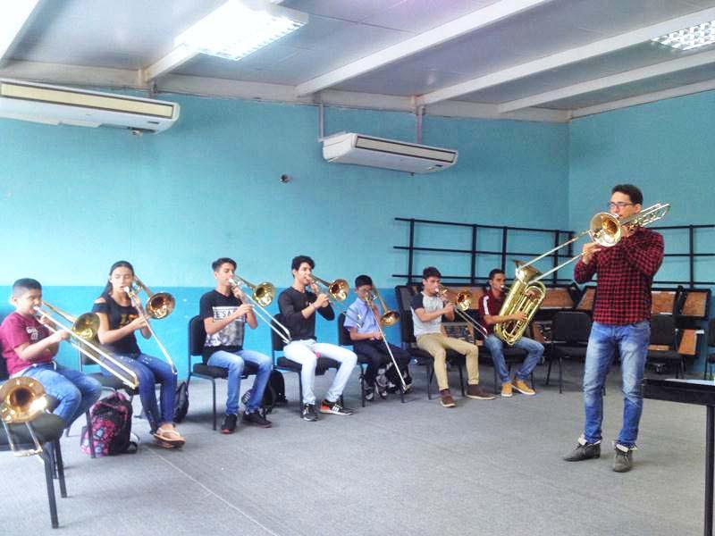 Oswaldo Parra compartió sus conocimientos y experiencias con el trombón en Guanare